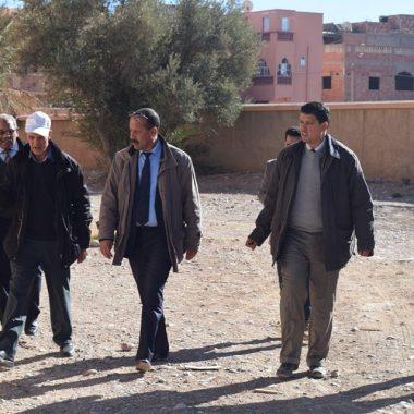 المديرية الاقليمية لوزارة التربية الوطنيةبالرشيدية : زيارات تفقدية لورش تأهيل داخلية ثانوية محمد الخامس بكلميمة