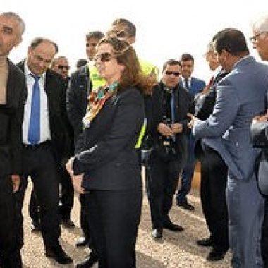 العيون :شرفات اليدري افيلال تقوم بزيارة تفقدية لورش حماية مدينة العيون من الفيضانات