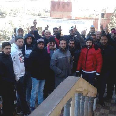 الريش: ساكنة شارع يوسف بن تاشفين في وقفة احتجاجية