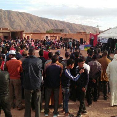 أغبالو نكردوس:مهرجان خطابي في اطار الحراك الاجتماعي الذي تعرفه المنطقة