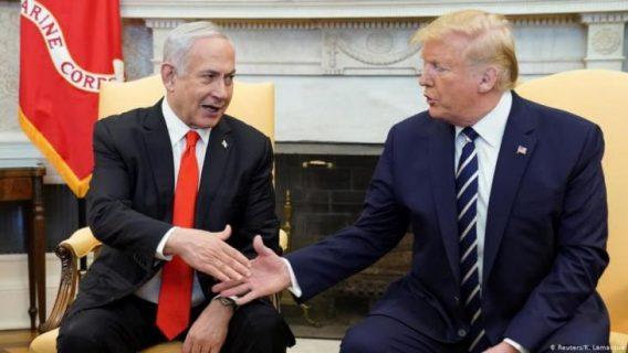 دونالد ترامب يغرد بالعربية وينشر خريطة فلسطين تبعا لخطته
